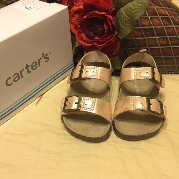 Carters Rose Gold Duncan Buckle Footbed